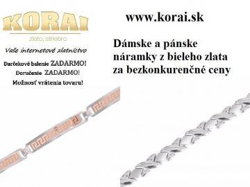Náramky z bieleho zlata od KORAI šperky