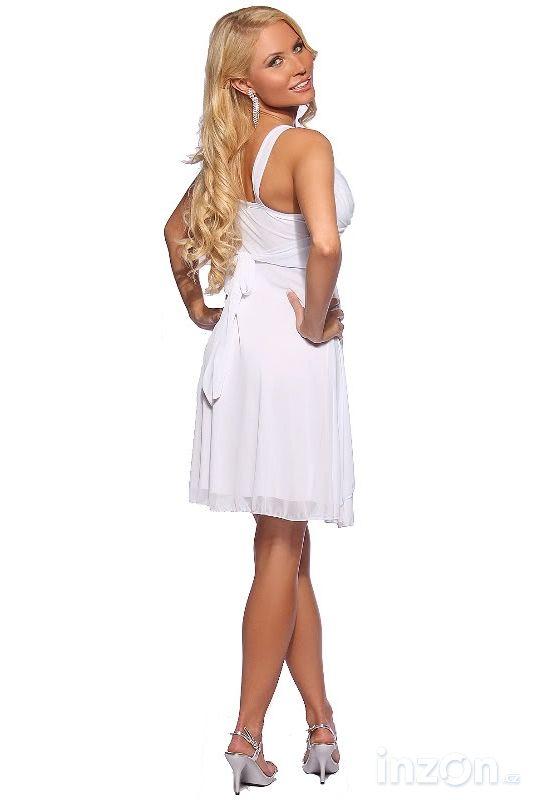 87e8dcdc510 Elegantní společenské šaty bílé Catherine ve velikostech S až L ...